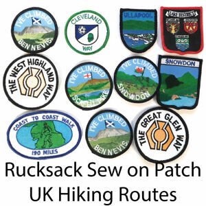Mountain Hiking Walking Rucksack Sew-on Patch Huge Range FREE UK Delivery!