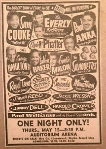 1958 original 4x6 ad! Sam Cooke, Jackie Wilson, Everly Bros. etc. Choice!