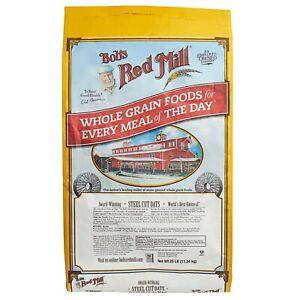 Bulk Supply 25 lb. Grain Breakfast Kosher Vegan Heart healthy Steel Cut Oats