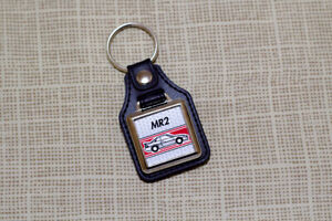 Toyota MR2 Mk2 Keyring - Leatherette & Chrome Keytag