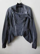 Rick Owens Gray Corduroy Drkshdw Cold Dyed Convertible Biker Jacket S
