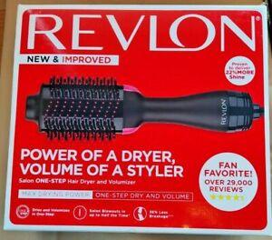 Revlon One-Step Hair Dryer And Volumizer Hot Air Brush (BLACK&PINK)