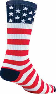SockGuy USA Flag Crew Socks | 6 inch | Red/White/Blue | L/XL