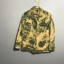 Forever 21 Womens Army Green Bleached Jacket Military Size Medium M