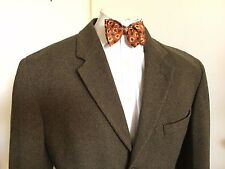 MEN'S  LE COLLEZIONI STRUCTURE JACKET BLAZER BROWN THREE BUTTON WOOL ITALY SZ L