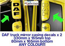 DAF Truck decals X 2 Essieu style CAB Side Fenêtre Vinyle Graphiques XF CF LF