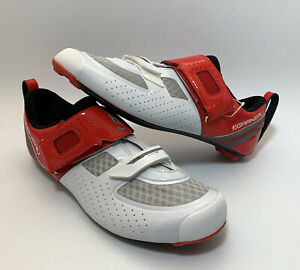 Louis Garneau Tri X-Lite II Carbon Men's Road Bike Shoes 46.5 US 11.75 White Red