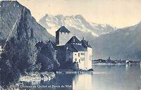 BR36344 Chateau de Chillon et Dents du midi      Switzerland