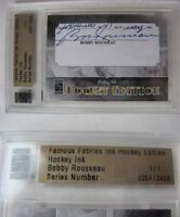2010 Famous Fabrics Bobby Rousseau 1/1 auto 1 of 1 autograph canadiens rangers