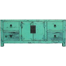 Green Lacquer  Low TV Unit / Sideboard Buffet (36-047)