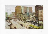 Vintage Postcard ** MAIN STREET ** BUFFALO * NY **1907 ** TROLLEYS