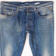 Mens Replay M925 SLOHAND Slight Bootcut Blue Jeans W38 L34