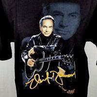Neil Diamond 2002 Concert Tour Tee Shirt Size Large Tour Dates Black 100% Cotton