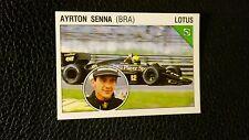 Ayrton Senna ROOKIE Sticker - Panini Supersport Italian 1986 - MINT Condition