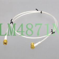 SMA Plug to SMC Jack R/A RG316 2' Low Noise cable Sensor Transducer Oscilloscope