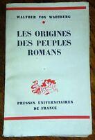 LES ORIGINES DES PEUPLES ROMANS en 1941  Histoire Civilisation Europe Sociologie