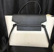 Celine Purse Black And White Pebbled Leather Mini With Removable Shoulder  Strap c52ac43edfefb