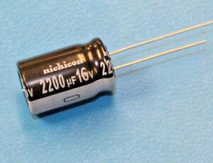 6pcs Nichicon VZ 2200uF 16v 105c Radial Electrolytic Capacitor 2200mfd