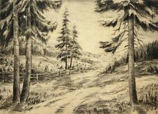 Ewald Becker-Carus 1902-1995 Hambourg/Frantz Gravure boisée 1928