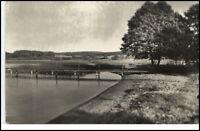 DERSAU Plön ~1930 Echtfoto-AK Partie am See Postcard
