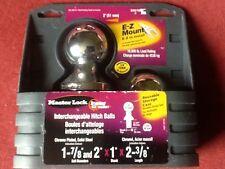 "10,000lb Master Lock Interchangeable Trailer Ball Hitch Receiver V5 2"" & 1 7/8"""
