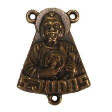 Bronze St. Judas Centerpiece Wholesale Rosary Part Resale Lot of 20 Saint Jude