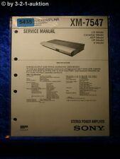 Sony Service Manual XM 7547 Amplifier (#5435)