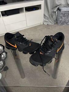 Nike Black & Orange Vapormax Air Trainers UK 5 (EUR 38)