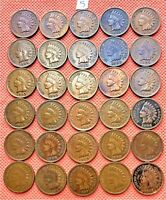1895-1907 INDIAN HEAD CENTS, PENNY, 30 HIGH GRADE COINS #5