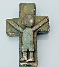 """Antica e bello crocifisso da appendere """"Christ croce """" XX secolo in gesso"""
