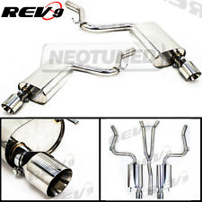 """Rev9 Catback Exhaust 4"""" Dual Tip + Y Pipe for Mustang 2.3L Ecoboost Turbo 15-17"""