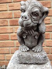 Steinfigur Gargoyle Figur Garten Deko Koi Teich Fantasiefigur Gartenfigur Neu 36