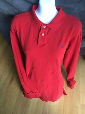 Boy's Red Ralph Lauren Polo Shirt Blue Pony Size XL 20 L/S Womans ? XL (20)