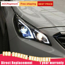 2Pcs For Hyundai Sonata Headlights assembly Bi-xenon Lens Projector LED DRL15-17