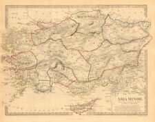 ASIA MINOR ANCIENT. Turkey. Cappadocia Cyprus Galatia Phrygia. SDUK 1846 map