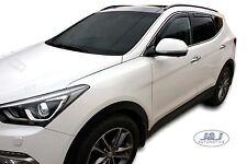 DHY17280  Hyundai Santa Fe Mk3 2012-up wind deflectors 4pc set TINTED HEKO