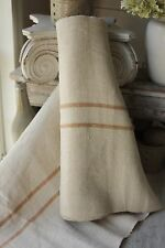 Grain sack grainsack fabric vintage linen 8.5 Washed caramel bolt upholstery