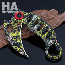 Colour CLAW Tactical Hunting Survival Rescue Folding POCKET KNIFE TOOLS Gift AU