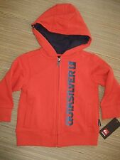 NWT QUIKSILVER Boy's size 18 MO'S  LONG SLEEVE HOODIE SWEATSHIRT ORANGE