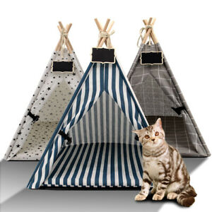 Foldable Pet Teepee Dog Puppy Cat Bed Portable Pet Tents & Houses for Dogs Cats
