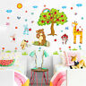 Animals Apple Tree Room Home Decor Removable Wall Stickers Decals Decorations