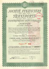 Societe Financiere de Transports (SOFINA) SA, accion, 1929 (AEG, Chade )