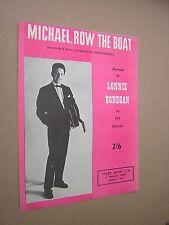 Michael riga la barca, Lonnie Donegan. 1961 ORIGINALE VINTAGE SPARTITO Score