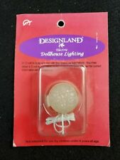 """Designland Dollhouse Miniature House Electric Lighting 1"""" Clear Ceiling Lamp NEW"""