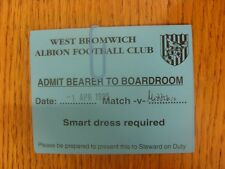 01/04/1995 Ticket: West Bromwich Albion v Middlesbrough [Admit Bearer To Boardro