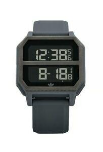 Adidas Men's Archive R2 Gun Metal Silicone Fashion Digital Watch NIXON NEW