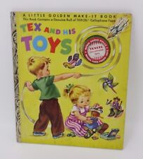 Little Golden Make-It Book TEX and His TOYS Uncut Unused Excellent w/ Tape