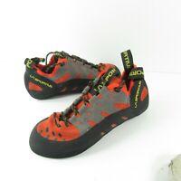 La Sportiva Tarantulace Men's Climbing Shoe Size 8.5 Black Gray Orange