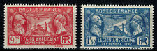 France timbre visite de la légion américaine N° 244 et 245 Neuf ** MNH