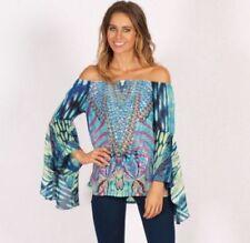 Off-Shoulder Butterfly Regular Size Tops & Blouses for Women